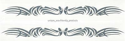 LOT 2  GLOW IN THE DARK TRIBAL DESIGN ARMBANDS TEMPORARY TATTOO - Glow In Dark Tattoo
