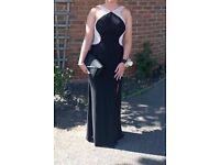 Black pearl prom dress