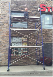 "13' Scaffold Tower with 5' x 5' + 3' x 5' Frames & 7' x 19"" Deck"