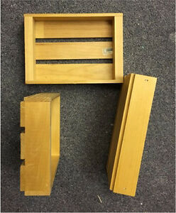 Small wooden crates. Set of 6 (two sets avail)