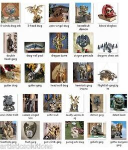 Gothic-Medieval-Dragons-Gargoyle-Statues-Many-Choices-Free-Shipping