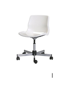 White Desk Chair with wheels