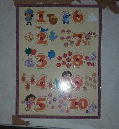 Dora woiden number puzzle