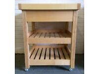 Monmouth Sycamore Butcher's Block Trolley