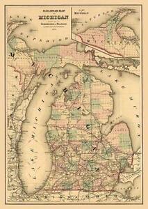 Michigan Map | eBay