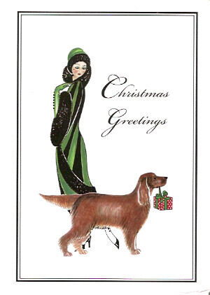 Irish Setter Christmas Cards Linda and fRED-1 - Pack of 10*