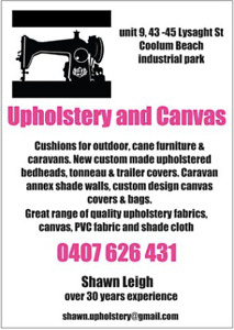canvas repairs in Maroochydore Area, QLD   Services For Hire