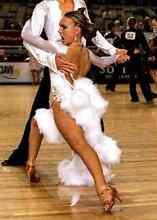 White Ballroom Latin Competition Dress Small with Swarovski Cronulla Sutherland Area Preview