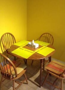 Table a manger, dining table with 4 chairs