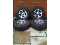 LANDROVER DEFENDER SET OF BOOST ALLOY WHEELS WITH TYRES , LAND ROVER DISCOVERY 1