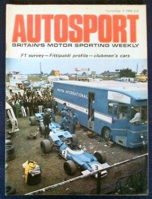 AUTOSPORT MAGAZINE DECEMBER 4 1969 VOL 39 NO 23.