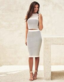 Lipsy Co-ord Knit Pencil Skirt and Crop Top Set. UK10
