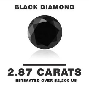 Black Diamond with Grading & Certification - Over  $2,200 Value