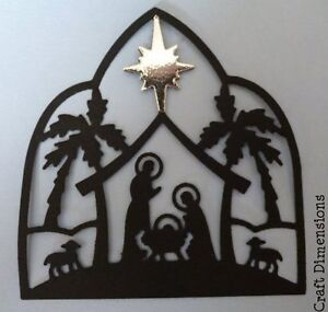 SILHOUETTE NATIVITY SCENE DIE CUTS FOR CARD TOPPERS