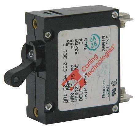 Carling Technologies Aa1-B0-34-650 -5D1-I Panel Mount Circuit Breaker, 50 A,