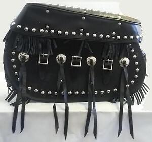 ProTech Deluxe Studded Leather Saddlebags