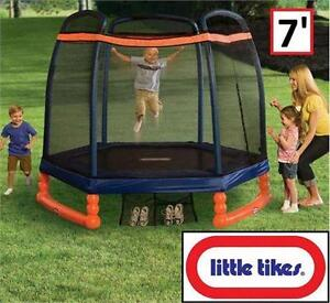 USED LITTLE TIKES TRAMPOLINE 7' OUTDOOR - 3 TO 10 YEARS - TOYS OUTDOORS PLAY GAMES GAME bouncing jumping 76195070