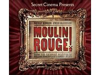 Secret Cinema tickets - Moulin Rouge- Valentines Day 14th February