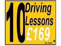 10 for £169* DRIVING SCHOOL LESSONS with INSTRUCTOR