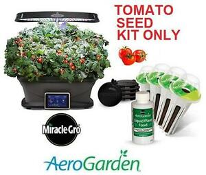 NEW MIRACLE-GRO TOMATO SEED KIT - 101347023 - AeroGarden Red Heirloom Cherry Tomato Seed Pod Kit (9-Pod) Patio, Lawn ...