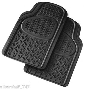 Universal heavy duty rubber car mats Front Pair-Trim for perfect Fit- Odourless