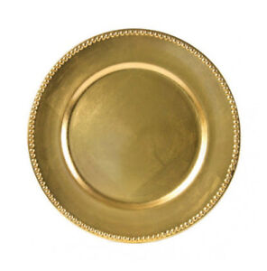 70 cents - Rent Gold Beaded Acrylic Charger Plates