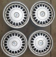 "Set of 4 BMW 15"" Wheels e20 7Jx15 H2 AAG 1 179 761 OEM"