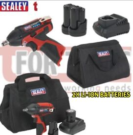 "SEALEY TOOLS CP1204KIT 12V IMPACT WRENCH KIT 3/8""SQ DRIVE - 2 BATTERIES"
