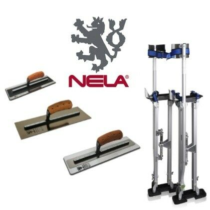 "LARGE STILTS 24-40 & NELA 16"" SUPERFLEX MKII PLASTICFLEX & PREMIUM TROWEL"
