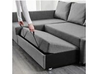 Ikea Friheten corner sofa bed with built-in Ottoman storage