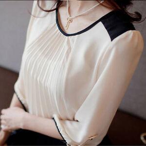 White 3 4 Sleeve Blouse