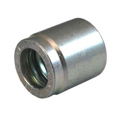 0211-08 Hydraulic Hose End Ferrule. 40pc Lot 12 Carbon Steel Crimp Ferrule.