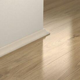 Brand New White Laminate Flooring Beading - 8 Foot Long - 2.4 Metres Long - Plenty Stock Available