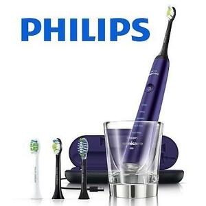 NEW PHILIPS SONICARE TOOTHBRUSH - 113121319 - DIAMONDCLEAN PURPLE EDITION AUTOMATIC TOOTHBRUSH BONUS BRUSH HEADS