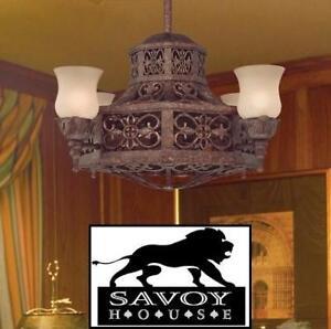 "NEW* 4 LIGHT CHANDELIER/CEILING FAN 14-280-FD-56 139335429 LIGHTING SAVOY HOUSE NAPLES 14"""