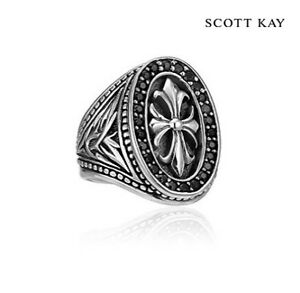 Scott Kay Black Sapphire Ring- Faith Collection Size 9.5