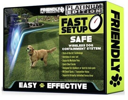 Friendly Pet Products Wireless Dog Containment System Platinum Edition