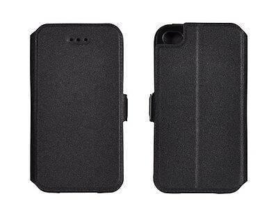 ^ 3 Book Case Flexi Hülle Etui Handy Tasche Flip Cover HTC U Ultra Schwarz Flip Ultra Pocket