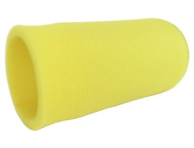 """RACING GO KART YELLOW FOAM PRE FILTER 3.5"""" x 8""""  PULL OVER AIR FILTER COVER NEW"""