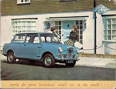 Riley Elf Mk II 1963-64 UK Market Sales Brochure Mini