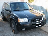 2002 Ford Escape V6 XLT Midnight SUV, AS IS  Best Offer