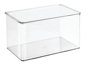 InterDesign Clarity Storage Box Organizer for Beauty Products, V