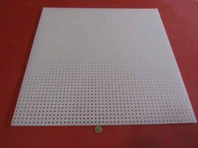 Polypropylene Perforated Sheet 14 Thick X 24 X 24 14 Dia Hole Straight