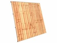 Heavy Duty 6ft x5ft Straight Top Feather Edge Panels £22.00