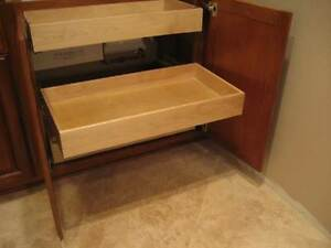 Solid Wood Drawer Pullouts for Kitchen