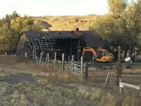 Barn removal , demolition, tree removal cleanup service