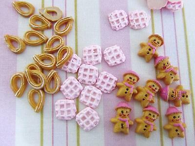 21 Gingerbread Cookie/Waffle/Churro Food Miniature Craft/Doll House Decor B186 - Gingerbread Craft