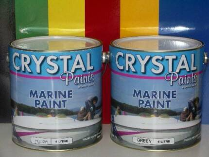 MARINE PAINT WHITE  4 LITRE AND PLYWOOD TIMBER SEALER 4 LITRE