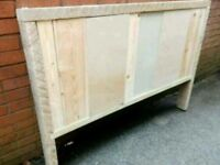 Rustic double headboard ideal for up cycling project