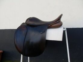 "17.5"" MW Don Burnell GP Brown Saddle"